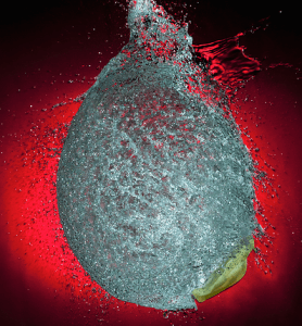 popped water balloon