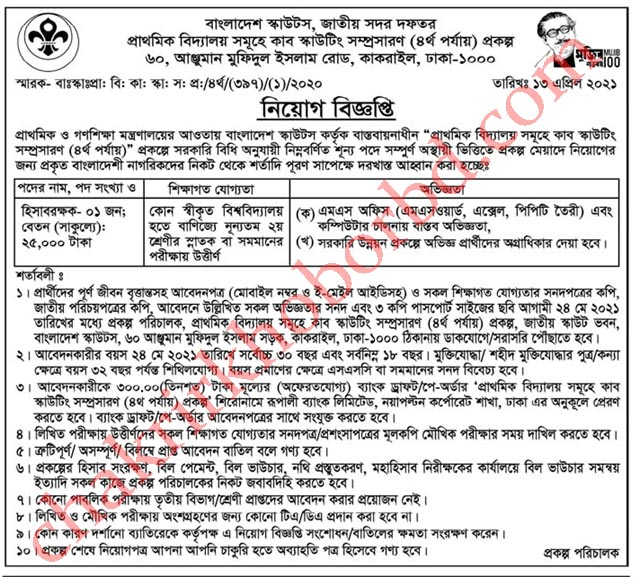 job at ministry of primary and mass education