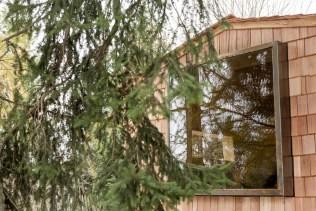 Sauna großes Fenster