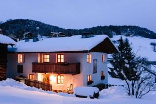 Ferienhaus Schnee Chalet Hafling Leckplått