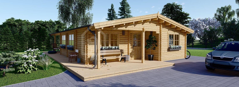 chalet en bois linda 66 mm 78 m 38 m terrasse