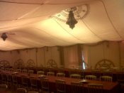 The hall converted to a bedouin tent by Oasis