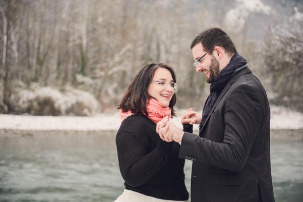 photo mariage à la neige