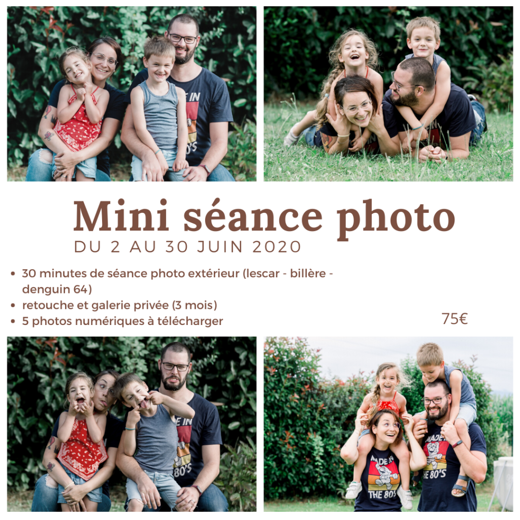 mini-séance photo fête