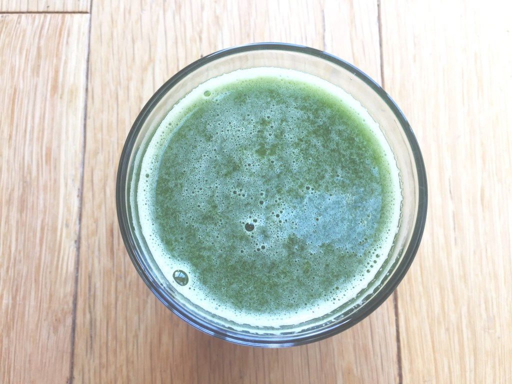 I have a green juice every day for protection against harmful diseases.