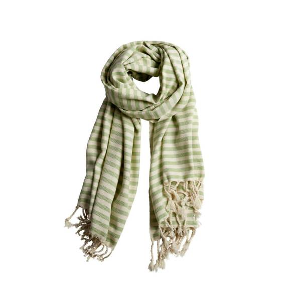 Turkish beach towels, Cemile in pea green