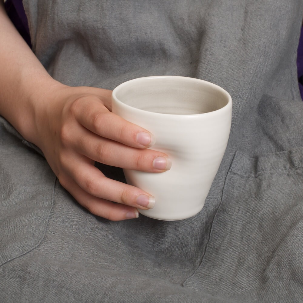 Handmade Dimpled Cup lifestyle Linda Bloomfield - Chalk & Moss