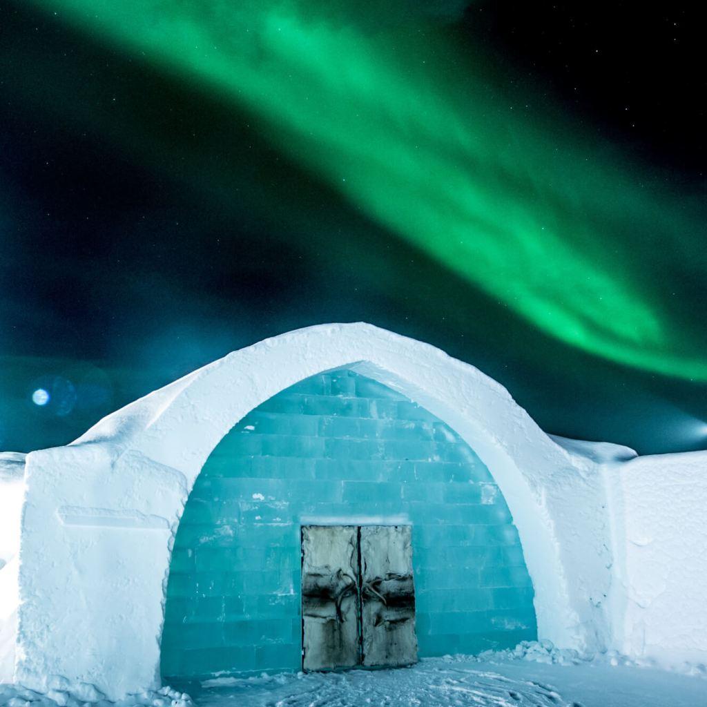 ICEHOTEL entrance Sweden