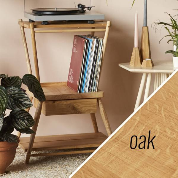 turntable stand MIMA - oak - John Eadon