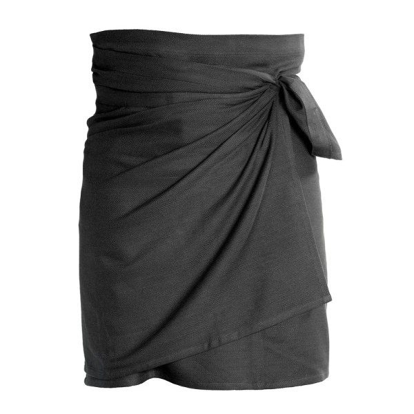 Giant kitchen towel apron - in dark grey. Also available in clay and blue/black. Designed by the Organic Company in Denmark, sold on Chalk & Moss.