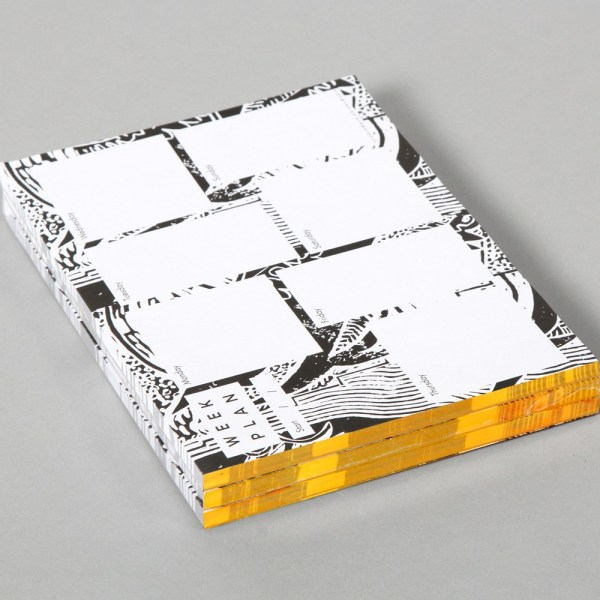 Weekly desk planner (52 pages). Designed by Wald, made in the UK. 21 x 14.8cm (A5)