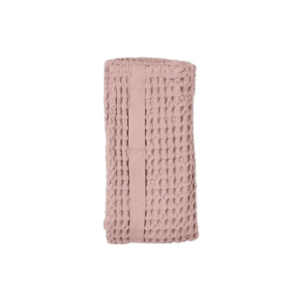 Big waffle hand towel in pale rose. By Denmark's The Organic Company. 100% GOTS certified organic cotton, ethically made in India. Sold on nature connected design shop Chalk & Moss (chalkandmoss.com)