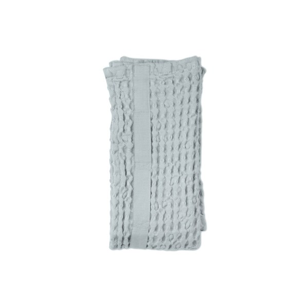 Big waffle hand towel in sky blue. By Denmark's The Organic Company. 100% GOTS certified organic cotton, ethically made in India. Sold on nature connected design shop Chalk & Moss (chalkandmoss.com)