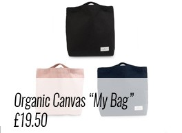 "Use ""My Organic Bag"" by The Organic Company as a sturdy cotton canvas day bag or shopping bag. Available on Chalk & Moss (chalkandmoss.com) as part of plastic free living."
