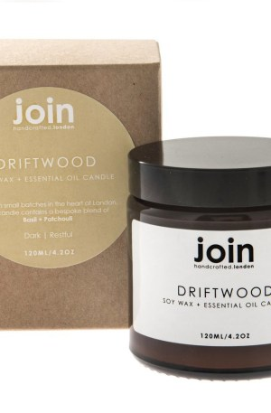 The Driftwood scented candle is an intriguing blend of basil and patchouli that results in an aniseed-like fragrance. Driftwood is a unique gift for the environmentally aware interior stylist. These natural candles are made from soy wax and high quality essential oils, as used in aromatherapy. They are vegan and, of course, cruelty free. Have a look at all of Join's essential oil candles, reed oil diffusers and room mists at Chalk & Moss (chalkandmoss.com).