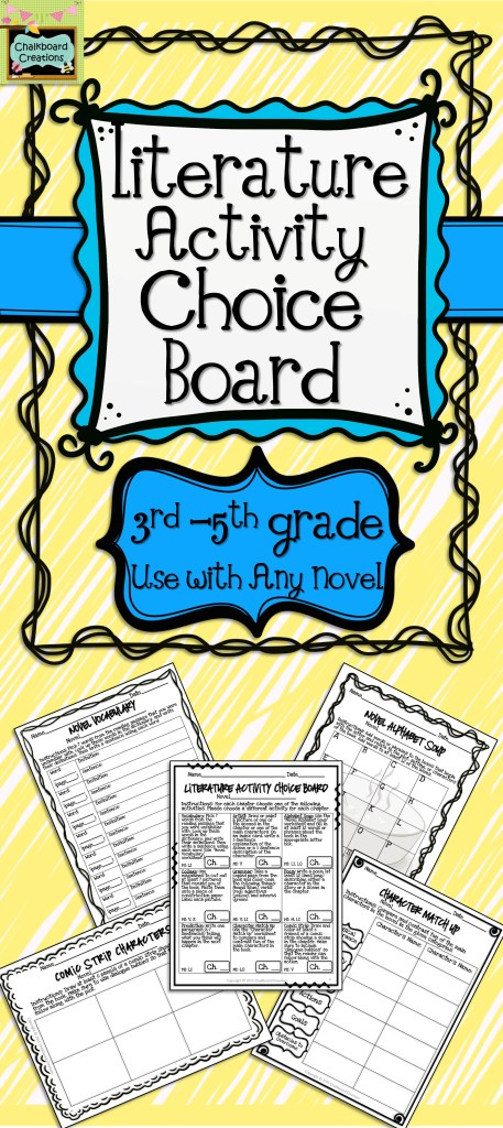 FREE Literature Activity Choice Board