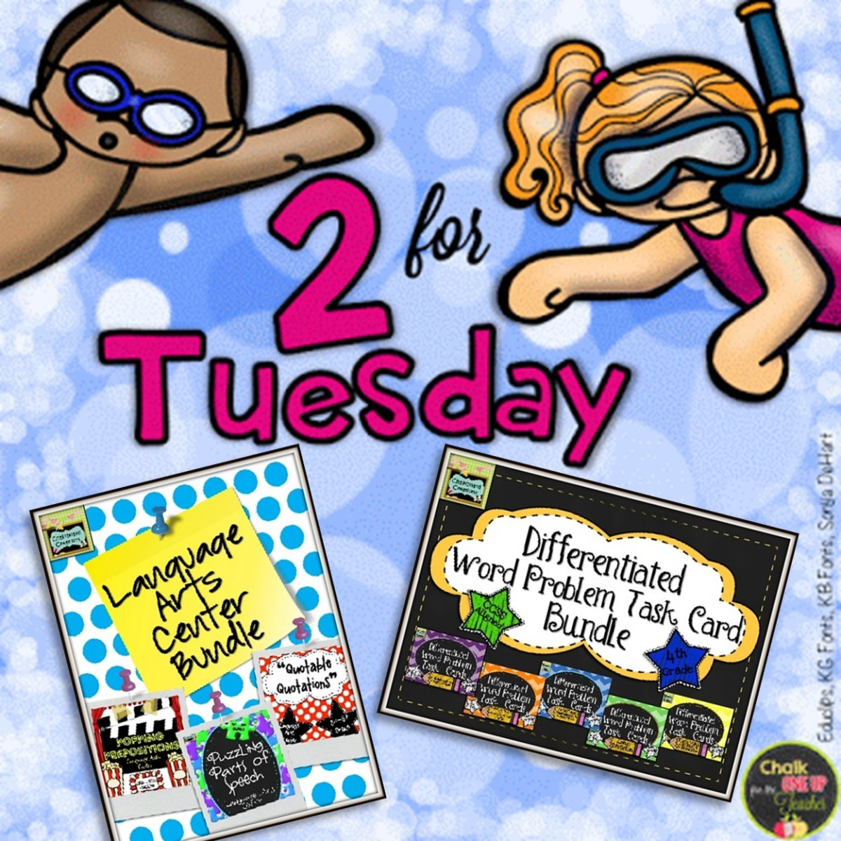 2 for Tuesday: LA Centers and Math Task Card Bundles