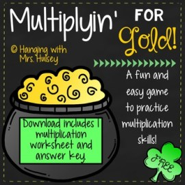 Multiplication Game St. Patrick's Day