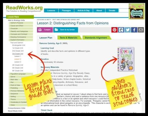 ReadWorks Differentiation