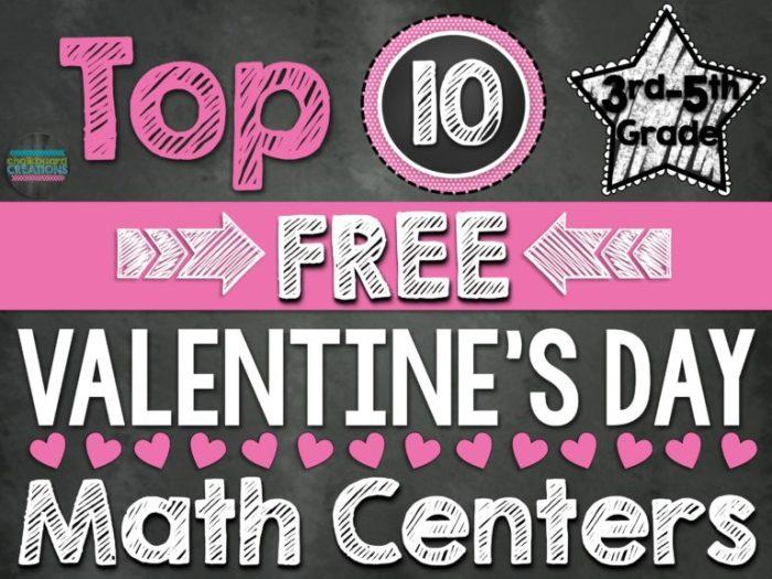 Math Center Round Up Valentines Day 3rd-5th