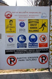 Safety signs @ Istanbul