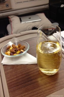 Welcome drink @ Turkish Airlines flight from Istanbul to Jakarta