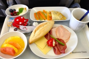 Breakfast @ Lufthansa flight LH1278