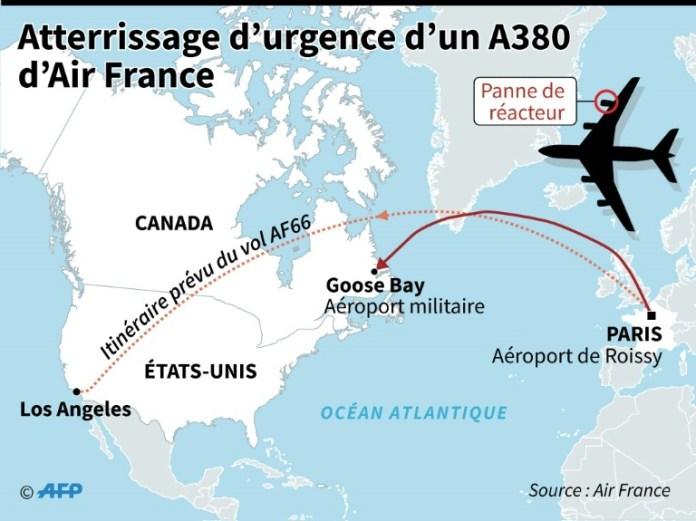 Emergency landing of Air France-AFP / Laurence SAUBADU emergency landing of Air France-AFP / Laurence SAUBADU