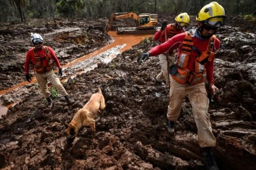 Les recherches se poursuivaient après l'effondrement du barrage de Vale à Brumadinho (Minas Gerais) le 3 mai 2019, 99 jours après la catastrophe (AFP/Archives - Douglas MAGNO)