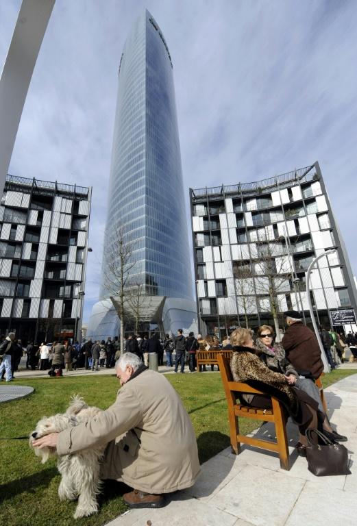 Le siège du groupe espagnol d'énergie Iberdrola à Bilbao en 2012 (AFP/Archives - RAFA RIVAS)
