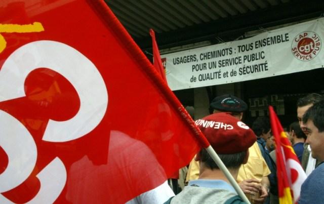 A la CGT-RATP, pas de caisse de grève et pas de caisse de grève nationale non plus à la CGT-Cheminots (AFP/Archives - ERIC CABANIS)