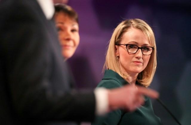 Rebecca Long-Bayley, qui pourrait prendre la tête du Labour britannique, lors d'un débat à Cardiff le 29 novembre 2019.  (POOL/AFP - HANNAH MCKAY)