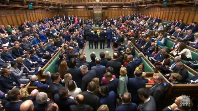 Capture d'écran de l'annonce du résultat du vote sur le Brexit, à la Chambre des communes le 20 décembre 2019 à Londres  (PRU/AFP/Archives - AFP PHOTO / UK PARLIAMENT )
