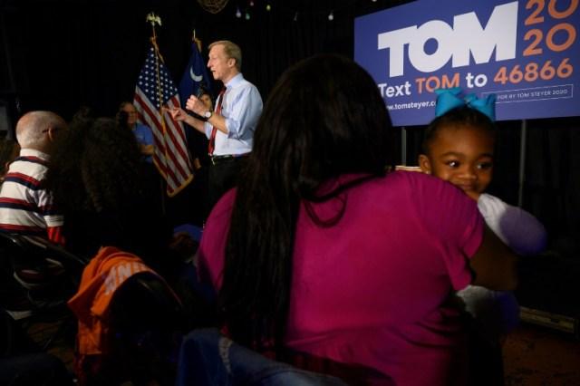 Tom Steyer à Myrtle Beach (Caroline du sud) le 26 février 2020  (AFP - JIM WATSON)