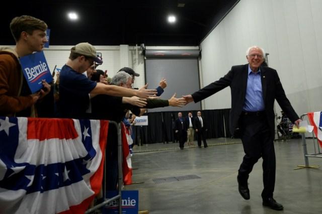 Le candidat aux primaires démocrates Bernie Sanders, le 26 février 2020 à Myrtle Beach, en Caroline du Sud  (AFP - JIM WATSON)