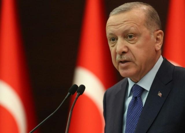 Le président turc Recep Tayyip Erdogan, le 18 mars 2020 à Ankara (AFP - Adem ALTAN)