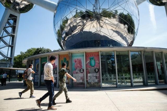 L'entrée du site de l'Atomium, le 29 mai 2020 à Bruxelles (AFP - Aris Oikonomou)