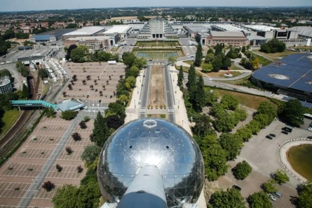 Le site de l'Atomium, le 29 mai 2020 à Bruxelles (AFP - Aris Oikonomou)