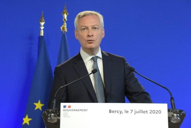 Bruno Le Maire le 7 juillet 2020 à Paris (AFP - Eric PIERMONT)