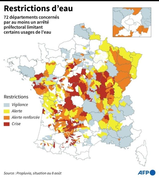 Restrictions d'eau (AFP - Alain BOMMENEL)