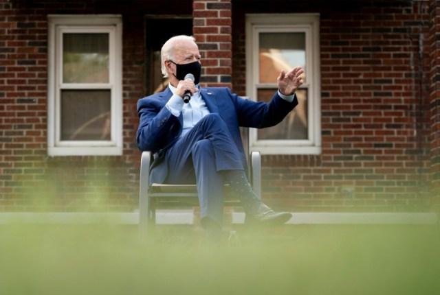 Joe Biden  à Detroit le 9 septembre 2020 (AFP - JIM WATSON)