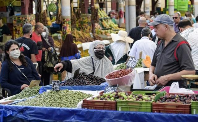 Des étals d'un marché à Tunis, le 4 octobre 2020 (AFP/Archives - FETHI BELAID)