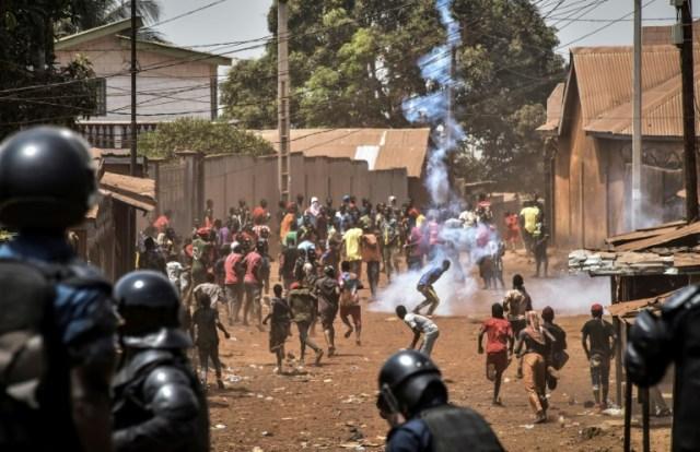 Manifestation à Wanindara le 27 février 2020 (AFP/Archives - CELLOU BINANI)