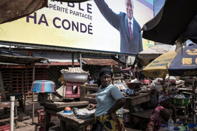 Alpha Conde won over 59 percent of the vote in Guinea's highly contested presidential poll (AFP/Archives - JOHN WESSELS)