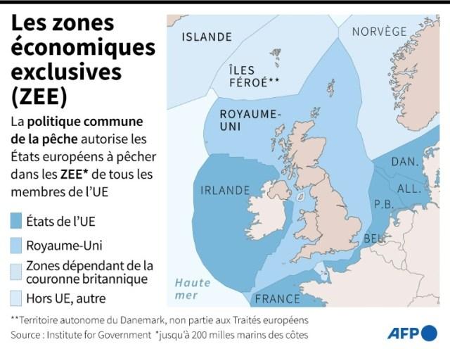 Les zones économiques exclusives européennes (AFP - Sabrina BLANCHARD)