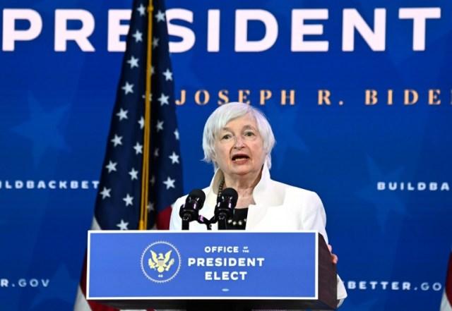 Janet Yellen, probable future secrétaire au Trésor, le 1er décembre 2020 à Wilmington, dans le Delaware (AFP - Chandan KHANNA)