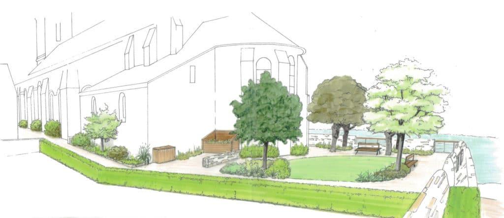 Projet d'aménagement paysager du belvédère de l'église Saint-Maurille à Chalonnes-sur-Loire