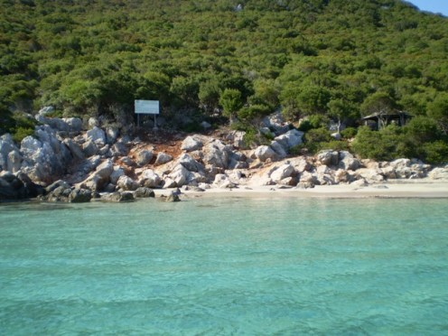 Sapientza beach in Finikounda