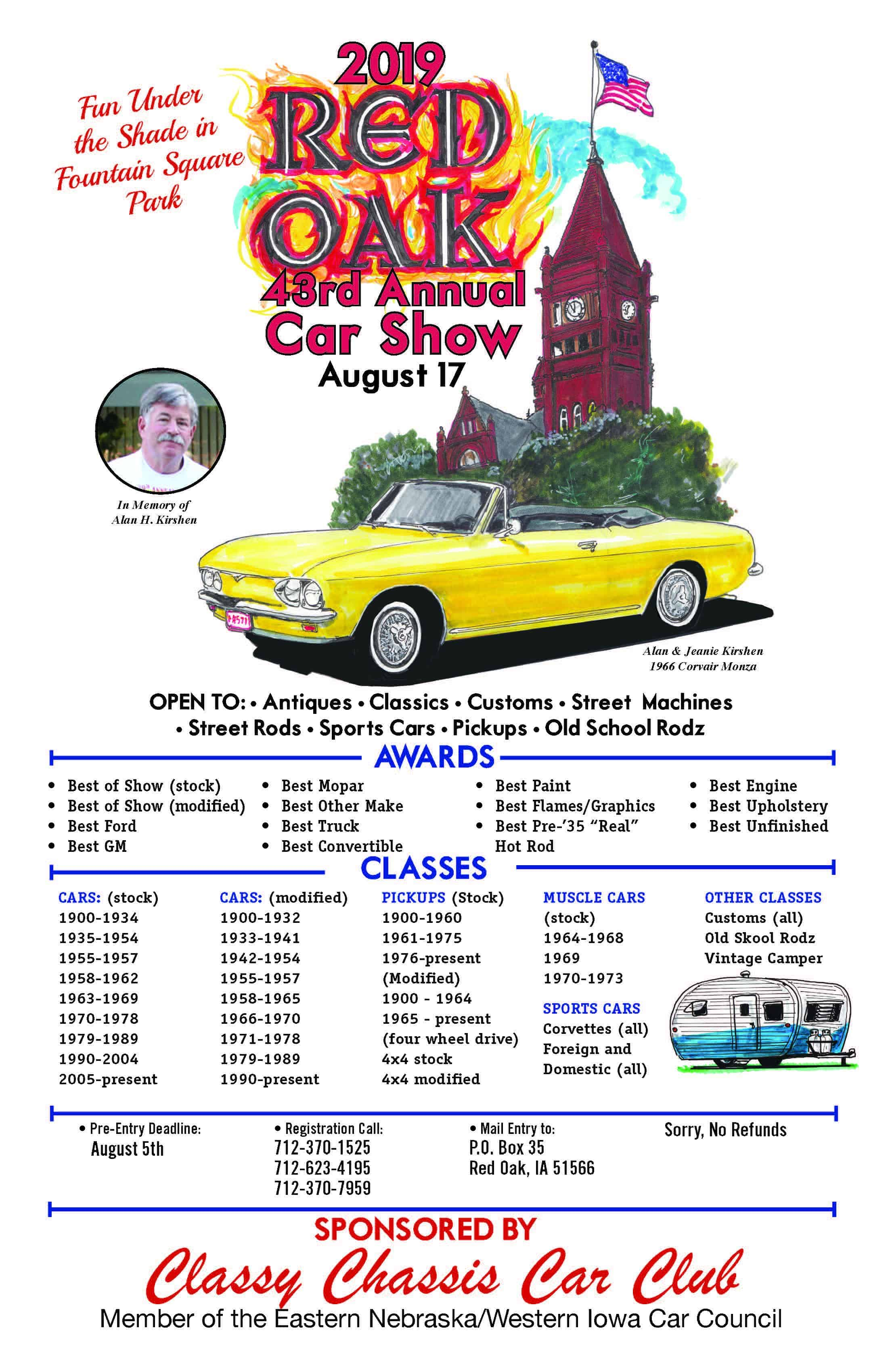 Classy Chassis Car Show - Old Car Days