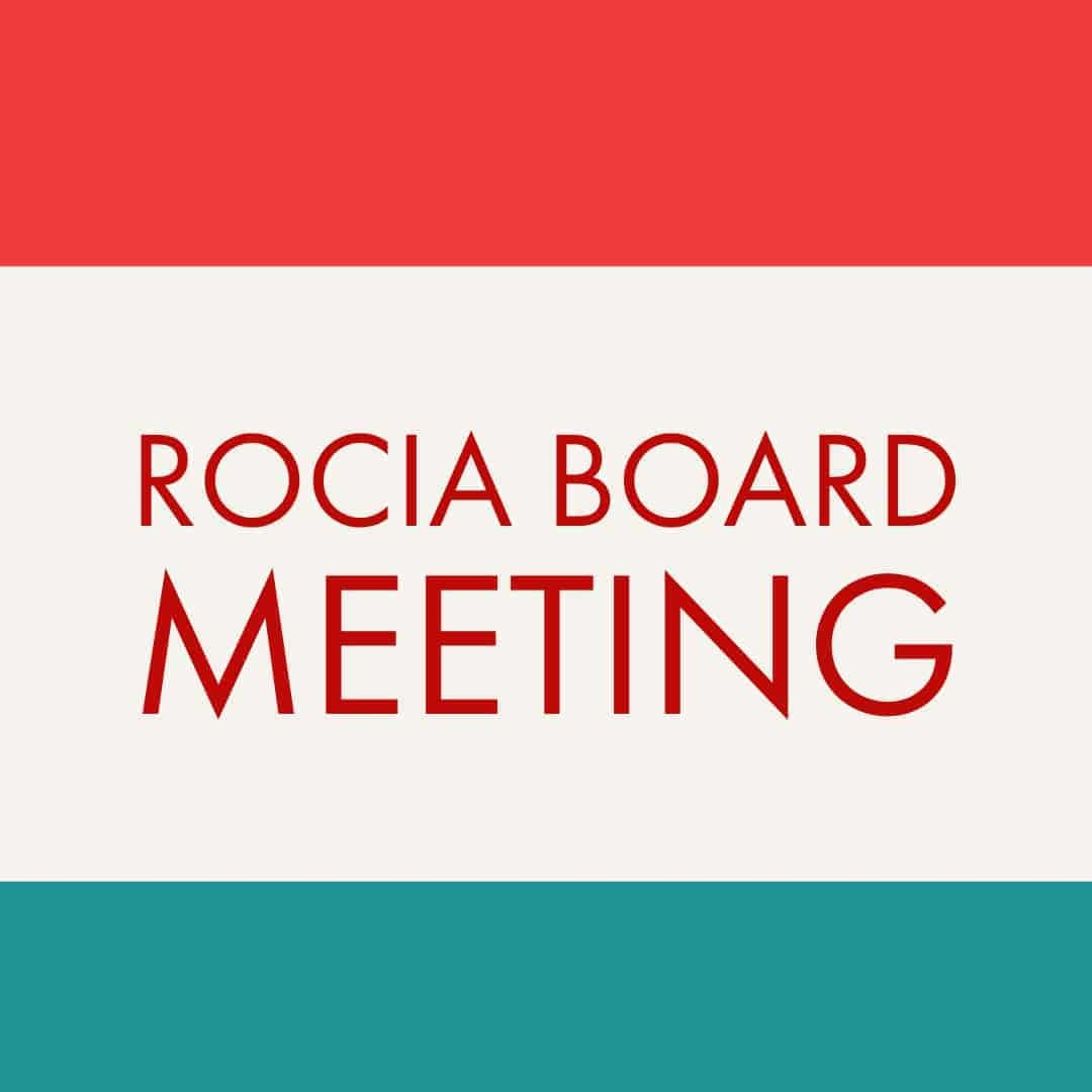 ROCIA Board Meeting